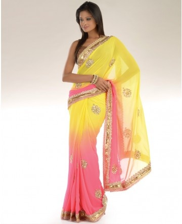 India-region Sari -would love to see this flowing, airy style incorporated more into western dress. This is beautiful!
