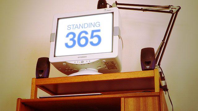 1000 ideas about standing desks on pinterest adjustable desk l desk and stand up desk. Black Bedroom Furniture Sets. Home Design Ideas