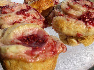 Raspberry Honey Buns