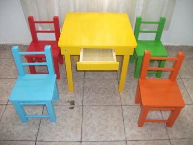 Mesa Infantil de Madeira | Imóveis