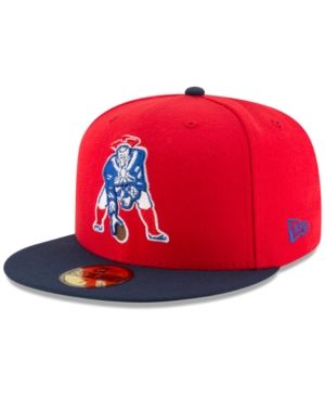 New Era New England Patriots Team Basic 59FIFTY Fitted Cap - Red 7 1/2