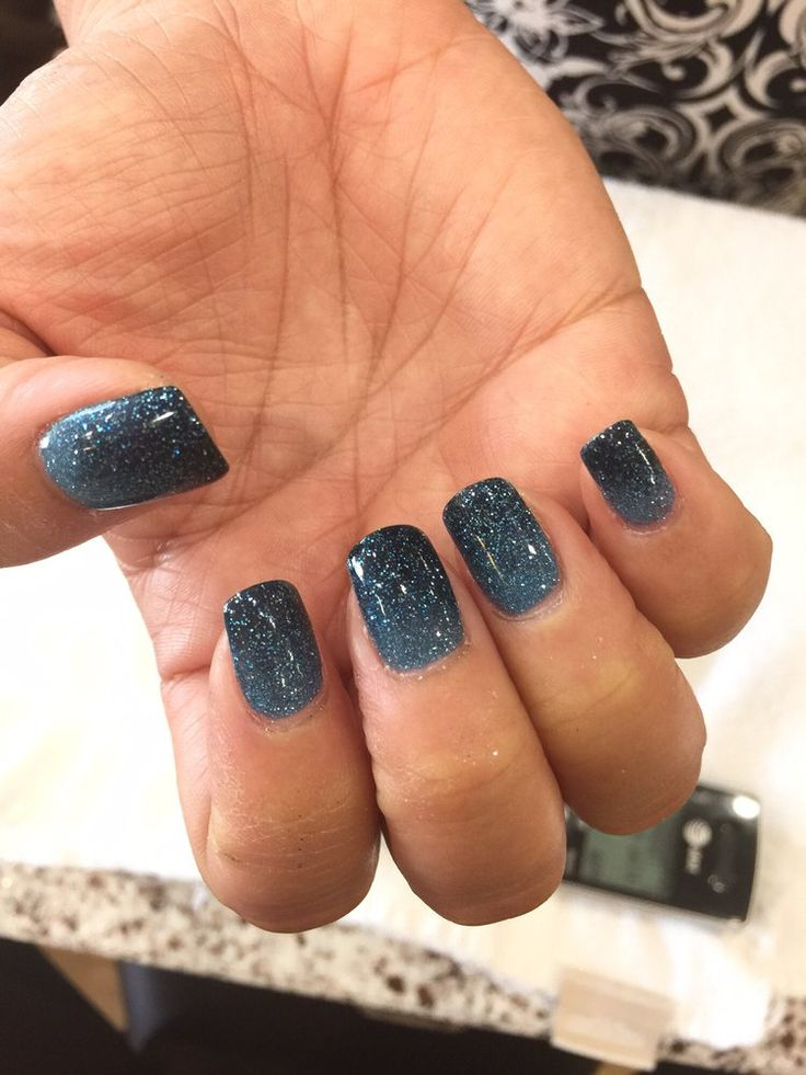 Elegant Touch Nails & Spa - Glendora, CA, United States. SNS dip with hombre nails