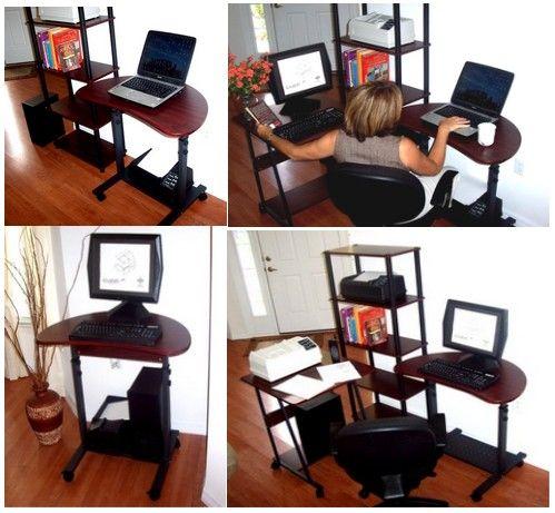 "S-003 32"" Sit Stand Height Adjustable Computer Desk"