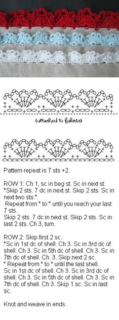crochet stitches - the green one is quite yummy!!