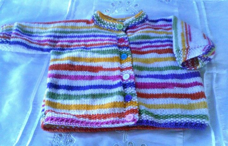 Lovely bright baby cardigan. Size 0 - 1. $18.00 plus postage