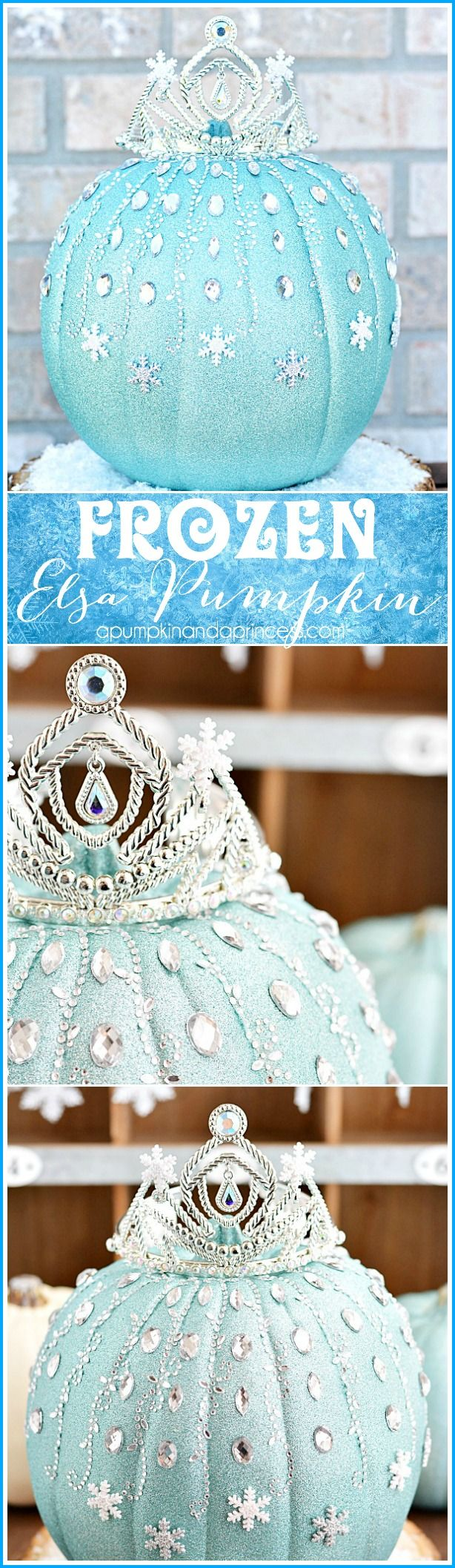 DIY Frozen Elsa Pumpkin from #MichaelsMakers @crystalowens: