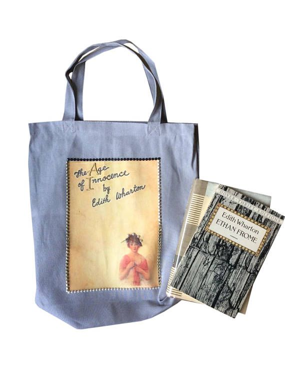 The Age Of Innocence Tote Book Club Bag Literary A Great Gift For Worms And Bookstagram Bookaddict Edithwharton