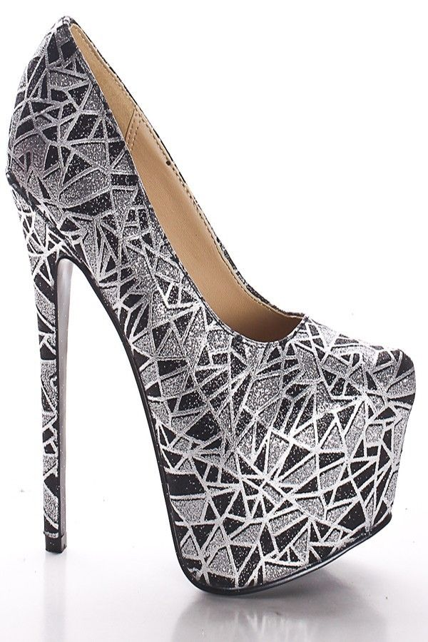 84.55$  Buy now - http://ali4g4.worldwells.pw/go.php?t=32398781228 - China Femme Sexy Silver Colors Basic Pumps Women Flocking Platform Ladies Shoes Stiletto High Heels 3 Inch Slip-On Zapatos Mujer