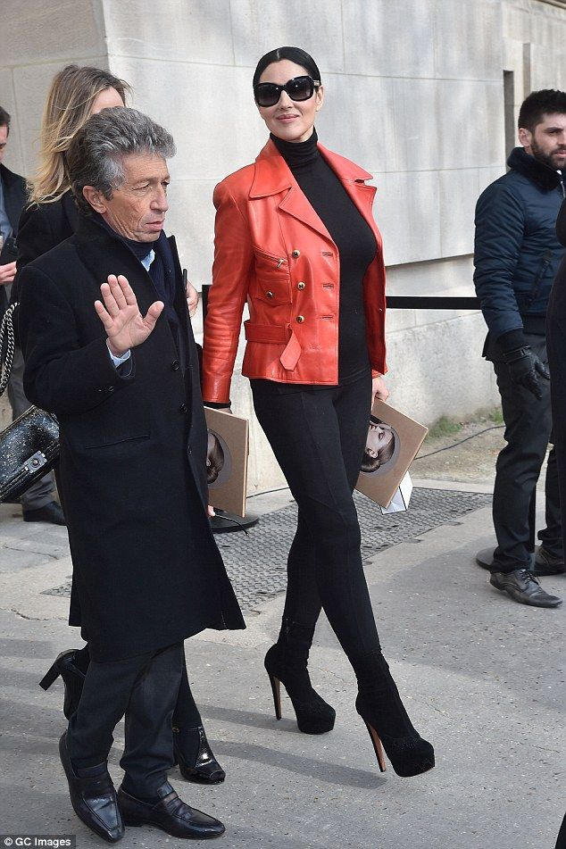 Quite an appearance: The Italian actress, who lives in France, had chanelled Parisian chic...