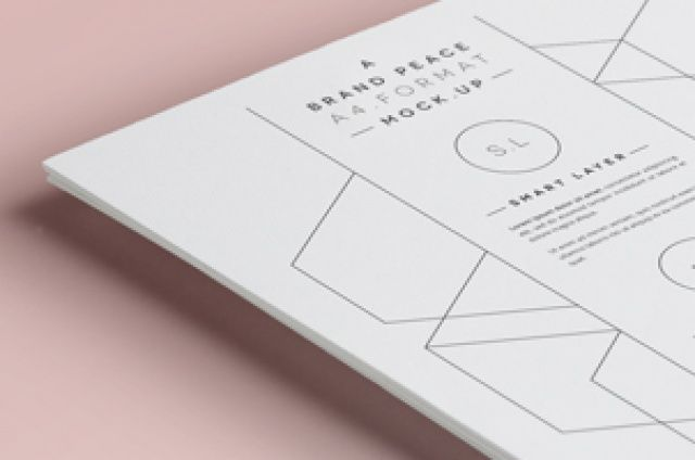 A new A4 psd mock-up with a pile of A4 papers to present your brand letterhead and other stationery design with...