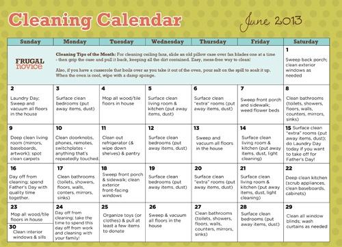 The  Best Chore Calendar Ideas On   Cleaning Calendar