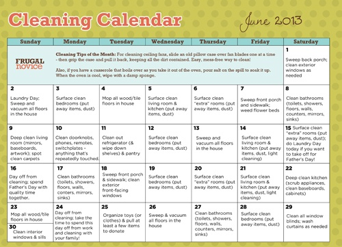 25 Cleaning Calendar Pinterest – Sample Training Calendar