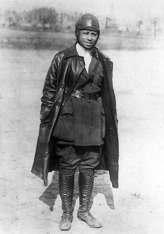Bessie Coleman -the first black female pilot.