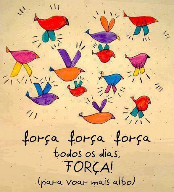 Força, força, força... Todos os  dias, FORÇA! (para voar mais alto!)