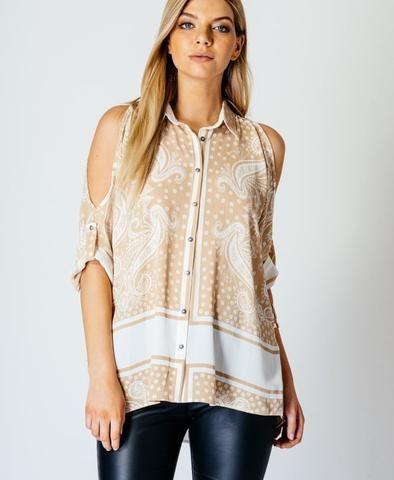 nude paisley shirt