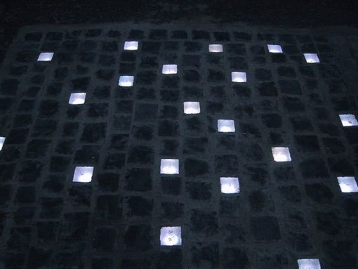 The Two Thousand Resin Paving Stones Are Lucent During Daytime, But Become  Luminescent At Nightfall