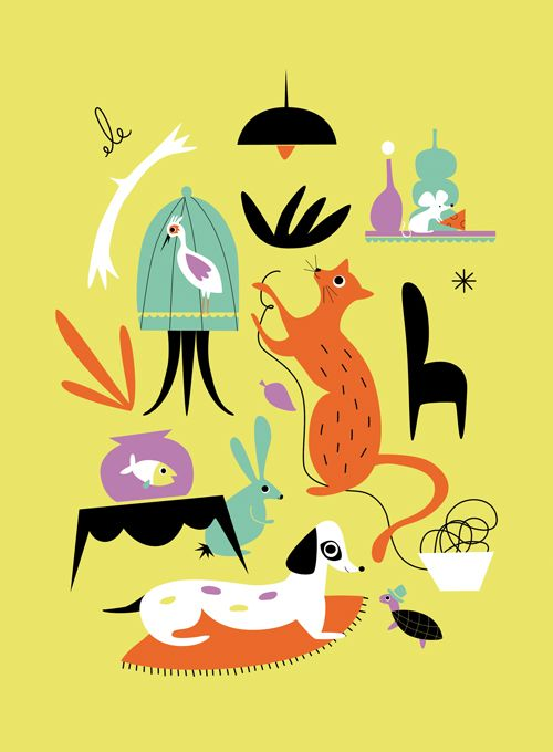 50's and 60's illustrations
