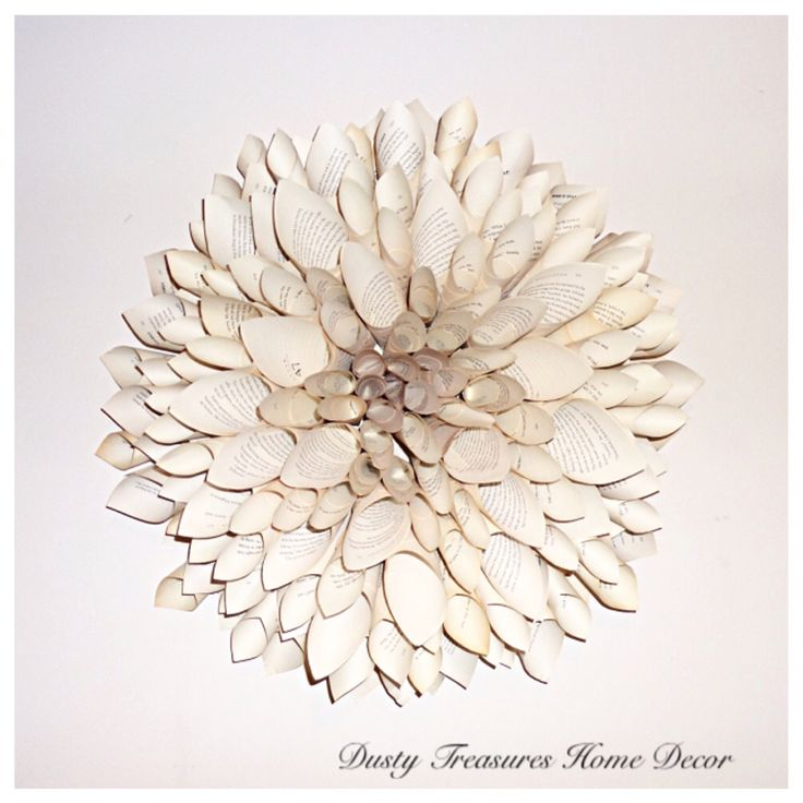 Natural book pages dahlia flower,book pages wreath , paper art wall hangings