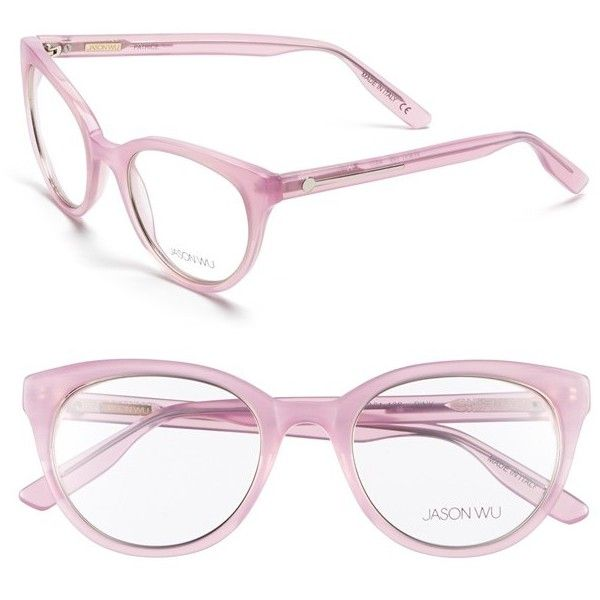 Jason Wu 'Patrice' 50mm Optical Glasses ($240) ❤ liked on Polyvore featuring accessories, eyewear, eyeglasses, glasses, pink, jason wu, cat eye eyeglasses, pink cat eye glasses, cateye glasses and pink eyeglasses