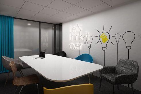 Nowoczesne projekty biur, space planning, office design - K Design Architekci…
