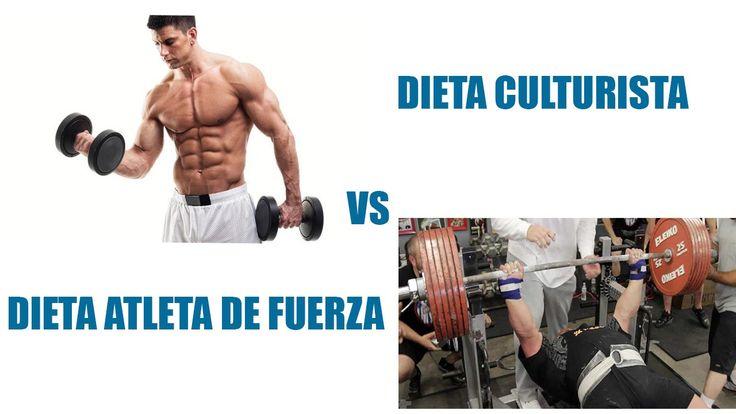 Dieta para culturismo y dieta para un atleta de fuerza ¿Son iguales? |