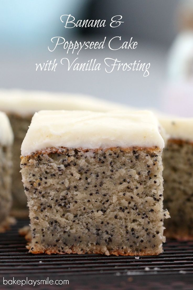 The most deliciously easy banana & poppyseed cake with vanilla frosting will become a family favourite in no time. This is such a simple, classic recipe.