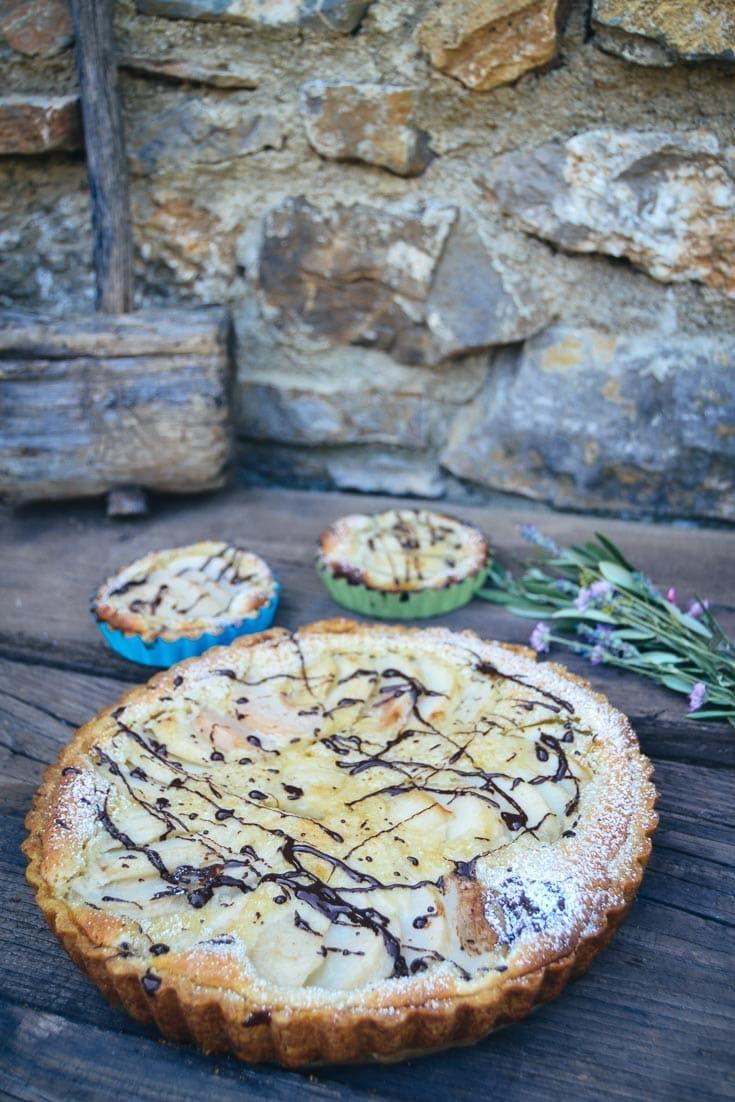 Torta de pêra simples receita de bolo de pêra   – Birnentarte