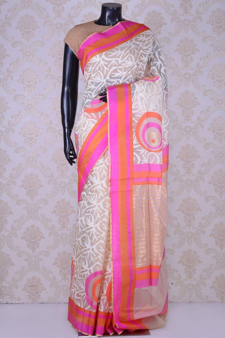 White chic banarasi kora saree-WE201557