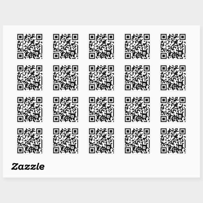 Qr Code Square Sticker Zazzle Com In 2021 Coding Qr Code Web Programming