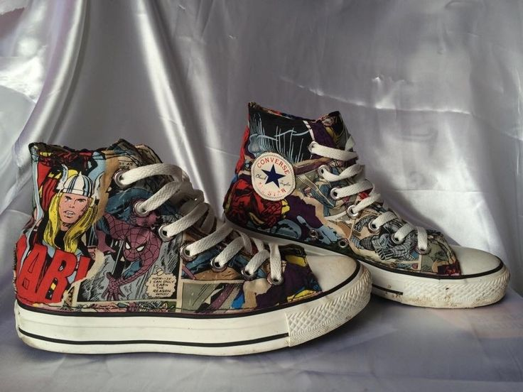 Marvel comic style converse all star | Converse, All stars ...
