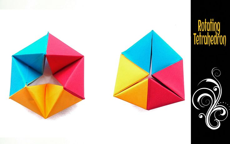 how to make a tetrahedron origami