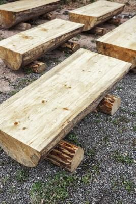 How to Make Log Benches   eHow