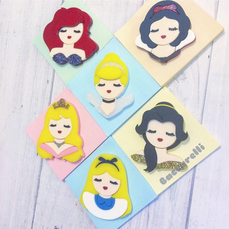 All Princesses Set 1 - brooch set