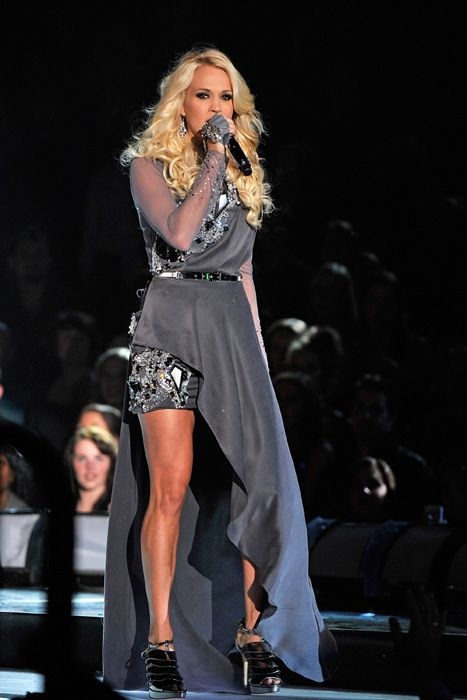 Carrie Underwood performing at the Country Music Association Awards