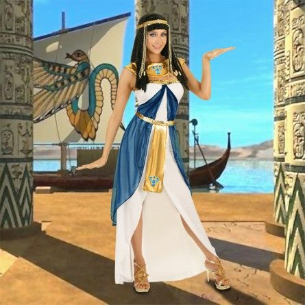 Cleopatra Outfit Egyptian Costume - I love the color pallette. :D