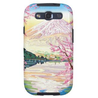 SOLD! - Fuji from Kawaguchi Okada Koichi shin hanga Case-Mate Samsung Galaxy S3 Vibe Case #fuji #kawaguchi #hanga #mountain #scenery #lake #cherry #spring #Japan #japanese #oriental #samsung #galaxy #s3 #case #cover #smartphone #girly #sassy #gift