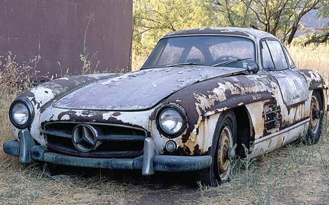 Mercedes 300 SL Gullwing That should buff out, some fresh gas, a little air in the tyres, & ready to go!