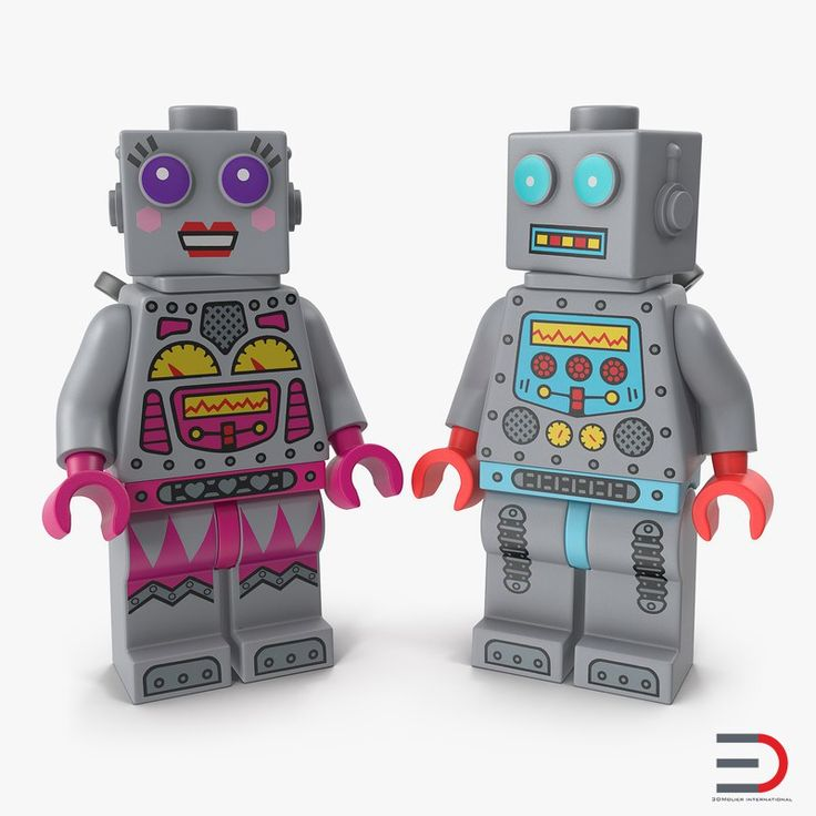 3D Lego Robot Minifigures Collection