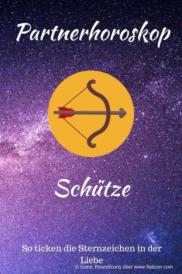 Partnerhoroskop Schütze: Das sagen die Sterne über die Liebe! Abbildung des Sternzeichen-Icons auf Sterne-Hintergrund