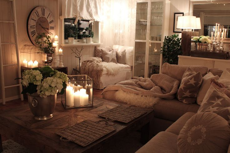 The same perfect living room!! Love the warm neutrals and all the layering with variations of texture and colors - Comfy!