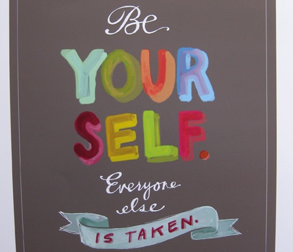 Be Yourself Print by Emily McDowell