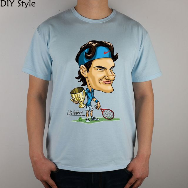 Special price Roger Federer T-shirt   Q Carton funny Top Lycra Cotton Men T shirt Fashion Original Brand New DIY Style High Quality just only $10.00 with free shipping worldwide  #tshirtsformen Plese click on picture to see our special price for you