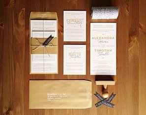 Letterpress huwelijksuitnodigingen