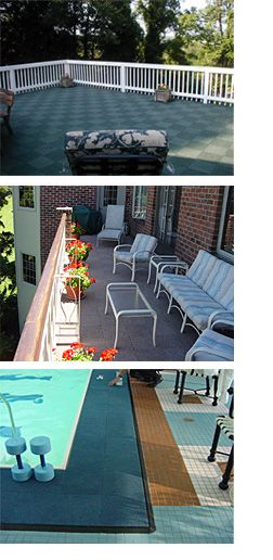 ArmorCarpet Interlocking, self-draining, self-drying outdoor carpet squares