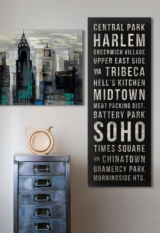 This is perfect to remember my #NY trip! I'm loving the dark and bold colors in these #art pieces.