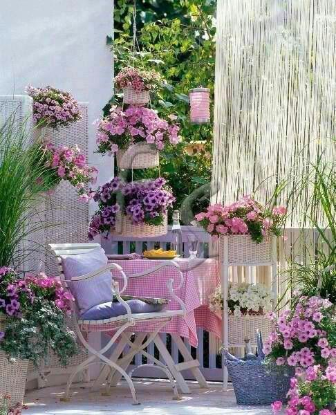 Pink and purple romantic serenity in the garden