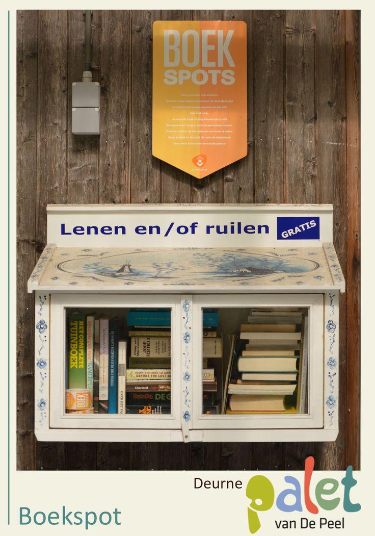 Een boek ruilen, afgeven of meenemen? Het kan bij de boekspots op het NS-station, bij de Ossenbeemd en de Nieuwenhof. Zoek zelf een leuk boek uit of deel je leeservaring. Wat een mooi initiatief! See more at: http://www.deurne-in-depeel.nl
