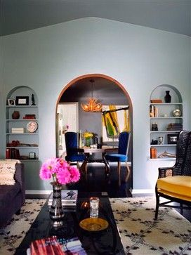 Ethnic Living Room Design Ideas, Pictures, Remodel, and Decor