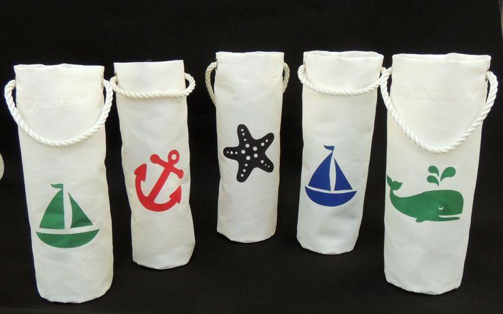 Sail Cloth Wine Bag by MainlandCanvas on Etsy