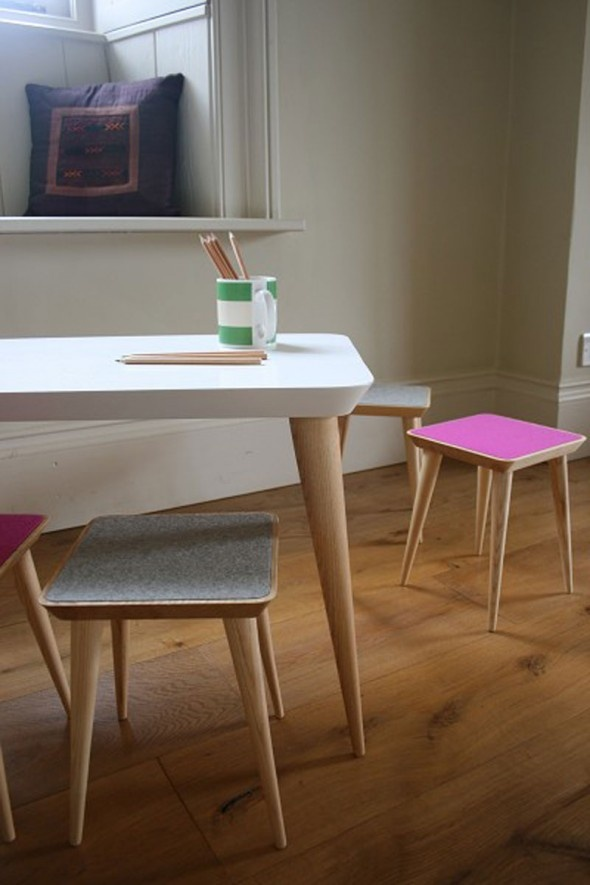 Stools and Table Furniture Design for Kids and Children by Robert Barnby